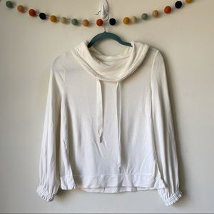 Lou & Grey Signature Soft Drawstring Cowl Top